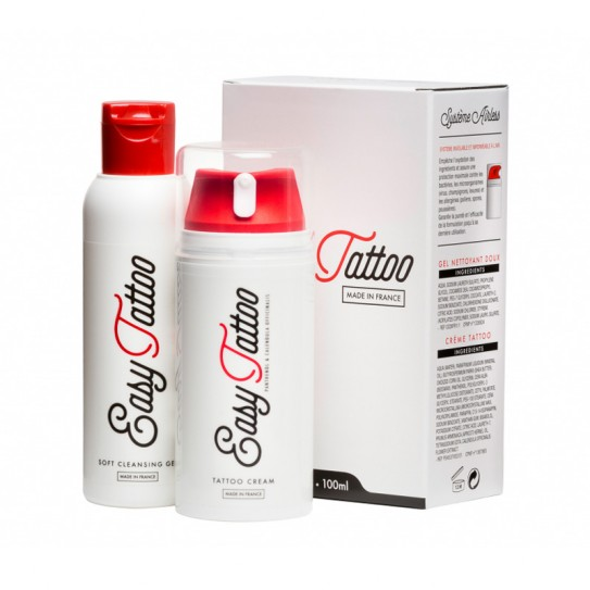 Zestaw do tatuażu Easy Tattoo 100 ml KREMU + 125 ml ŻELU