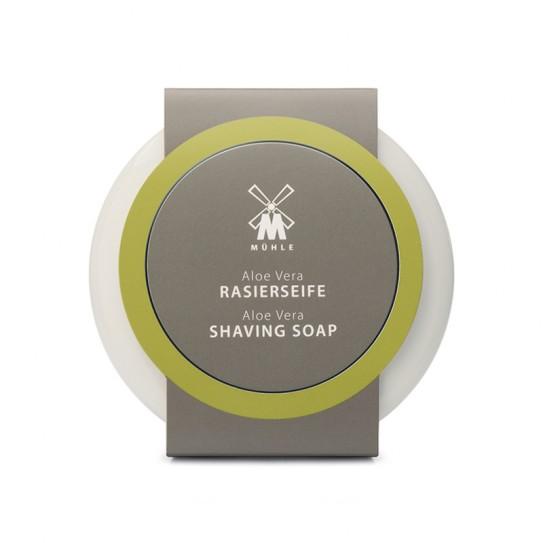 Mydło do golenia Muhle Aloe Vera Shaving Soap And Porcelain Shaving Bowl 65 g