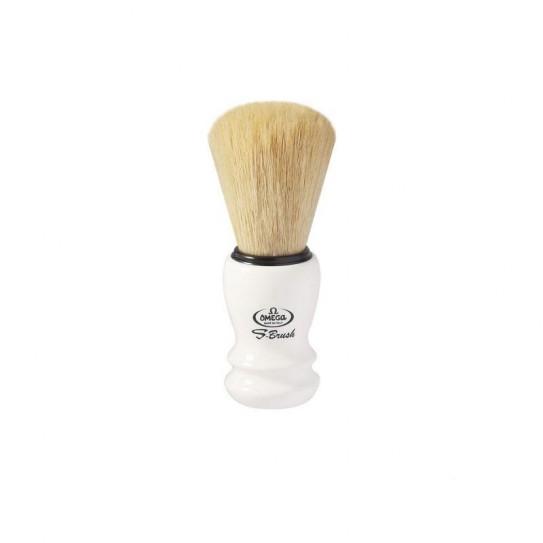 Pędzel do golenia Omega S-Brush S 10108 syntetyczny Biały