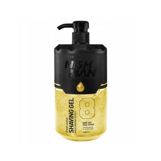 Żel do golenia Nishman Shaving Gel No.8 Fresh Active Gold One 1000 ml
