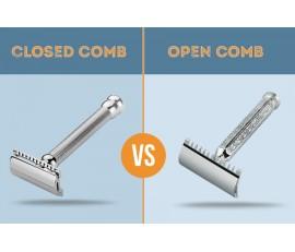 Maszynki do golenia z otwartym i zamkniętym grzebieniem. Podstawowe różnice.