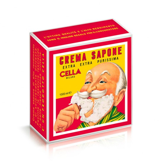 Krem do golenia Cella Crema Da Barba Barber Collection z olejkiem migdałowym1000 ml