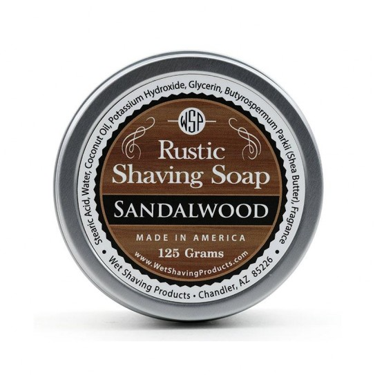 Mydło do golenia Wsp Rustic Shaving Soap Sandalwood 125 g