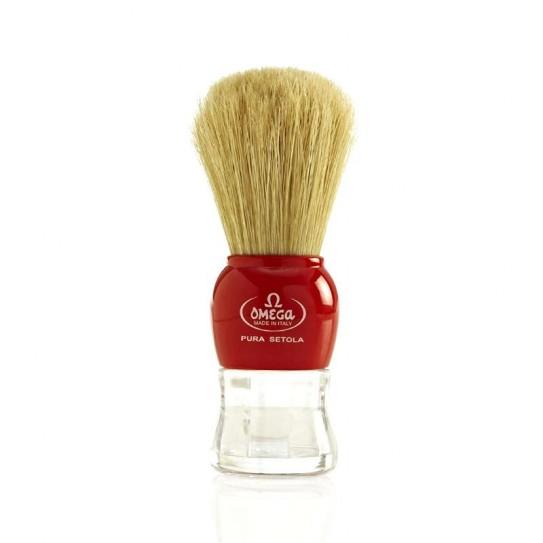 Pędzel do golenia Omega 10072 Czerwony