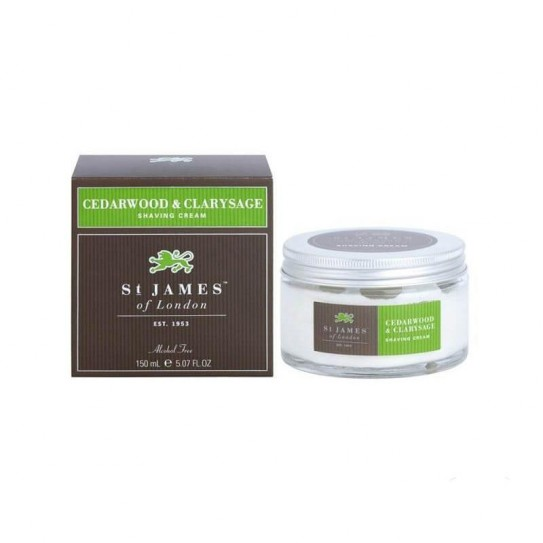 Krem do Golenia St. James of London Cedarwood & Clarysage 150 ml