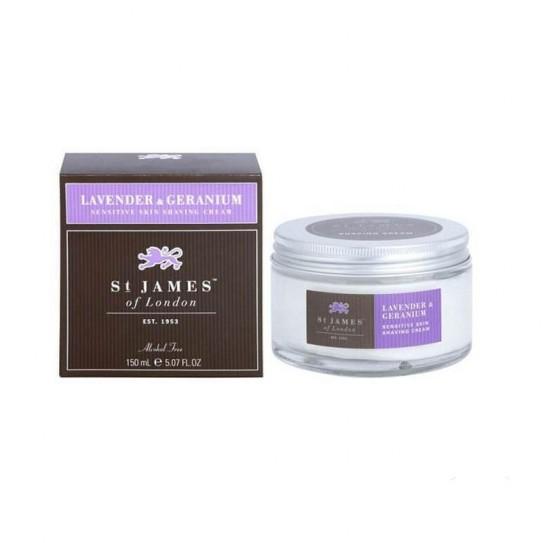 Krem do Golenia St. James of London Lavender & Geranium 150 ml