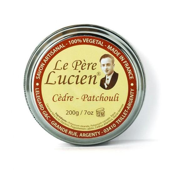 Mydło do golenia Le Pere Lucien Cedre Patchouli (z olejkiem cedru i paczuli) 200 g