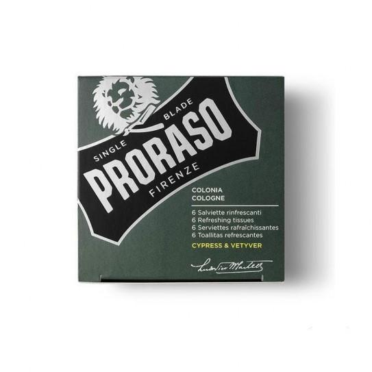 Odświeżające chusteczki Proraso Cypress & Vetyver 6 szt.