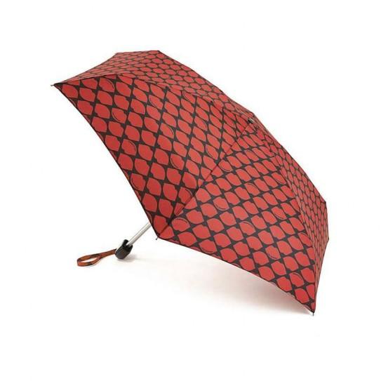Parasolka damska Fulton Lulu Guinness Tiny-2 Lips Grid Red L717 (5F2681)