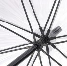 Parasolka damska przeźroczysta Fulton Birdcage-1 Black/White L041 (7S090)  1