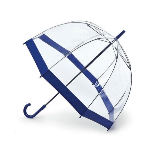 Parasolka damska przeźroczysta Fulton Birdcage-1 Navy L041 (6F033)