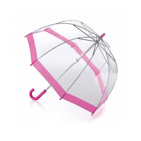 Parasolka damska przeźroczysta Fulton Birdcage-1 Pink L041 (6F022)