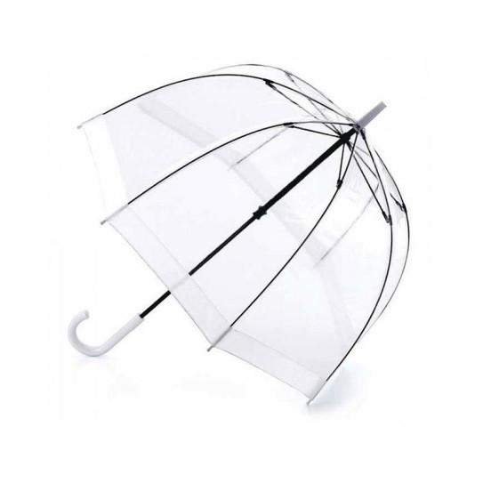 Parasolka damska przeźroczysta Fulton Birdcage-1 White L041 (6F002)