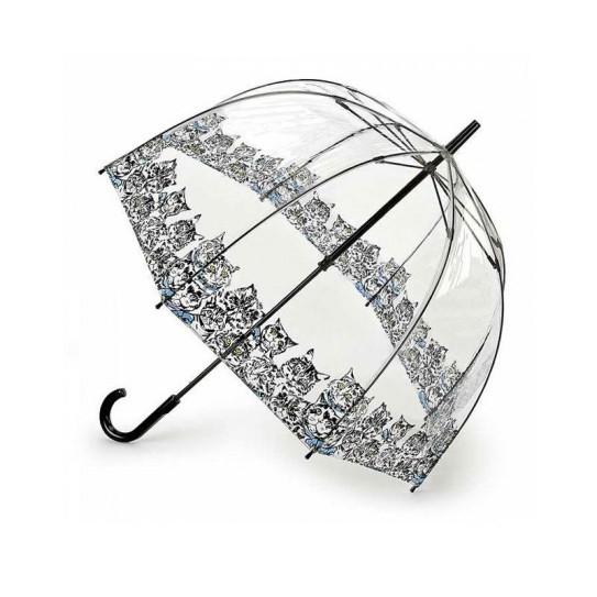 Parasolka damska przeźroczysta Fulton Birdcage-2 Bibis Cat L042 (7S3386)
