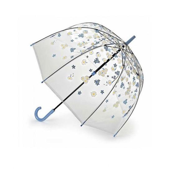 Parasolka damska przeźroczysta Fulton Birdcage-2 Falling Daisies L042 (7S3387)