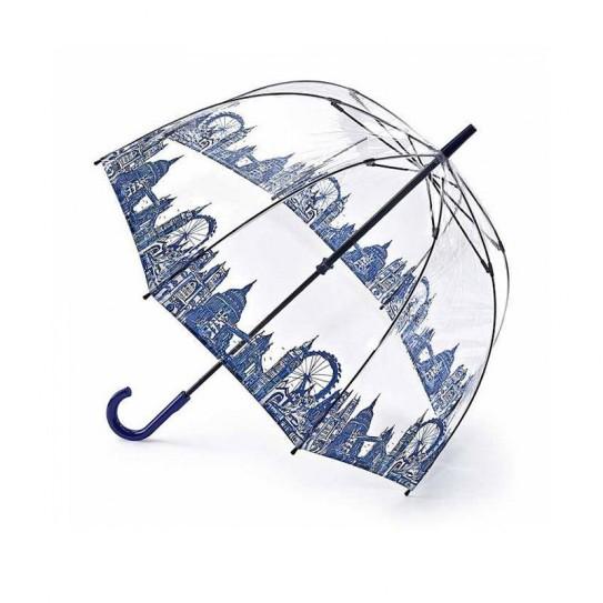 Parasolka damska przeźroczysta Fulton Birdcage-2 London Icons L042 (6F3042)