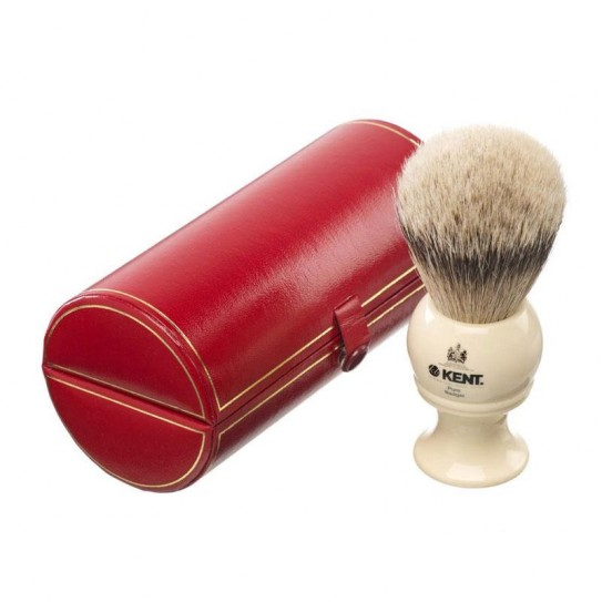 Pędzel do golenia Kent Bk8 Silver-Tip Badger