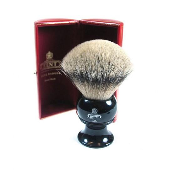 Pędzel do golenia Kent Blk12 Silver-Tip Badger
