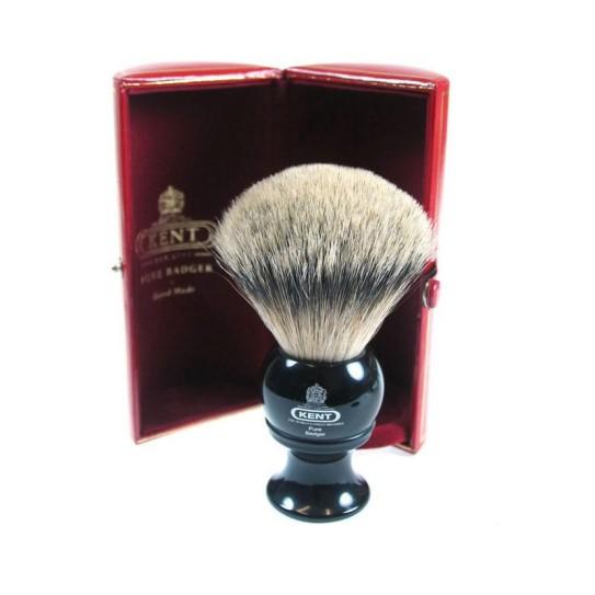 Pędzel do golenia Kent Blk8 Silver-Tip Badger
