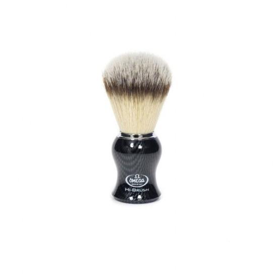 Pędzel do golenia Omega Hi-Brush 0146650 Carbon Effect syntetyczny