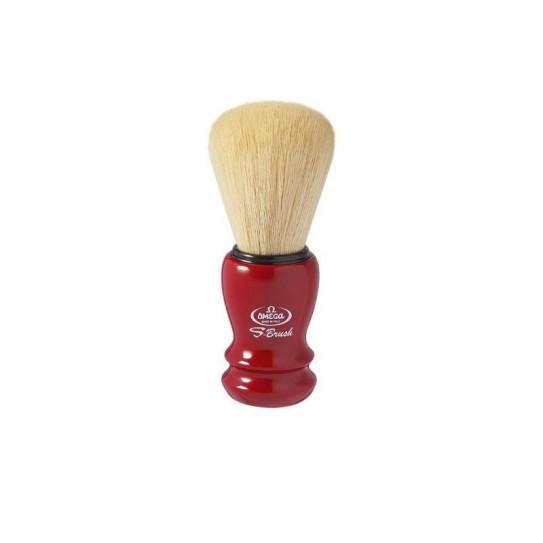 Pędzel do golenia Omega S-Brush S 10108 syntetyczny Czerwony