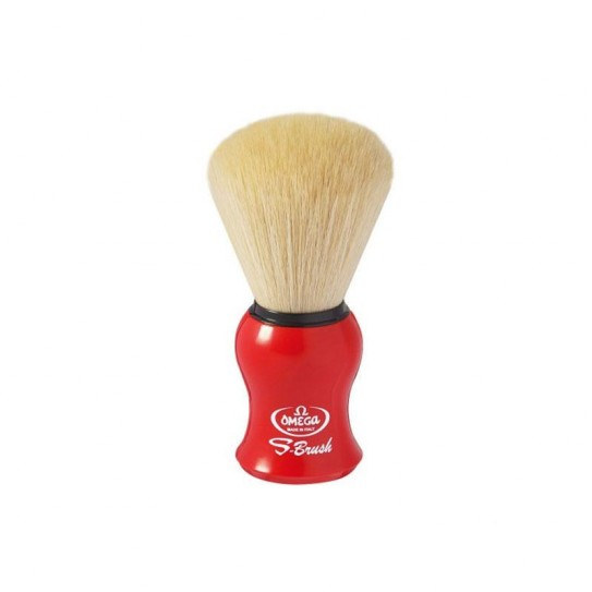 Pędzel do golenia Omega S10065 syntetyczny (Czerwony)