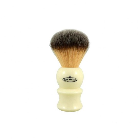 Pędzel do golenia RazoRock Plissoft Ivory 22 Synthetic Shaving Brush