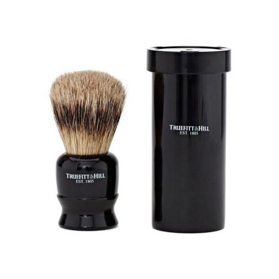 Pędzel do golenia Truefitt & Hill Tube Traveller Ebony Super Badger Brush