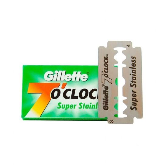Żyletki Gillette 7 O'Clock Super Stainless Double Edge Razor Blade 5 szt.