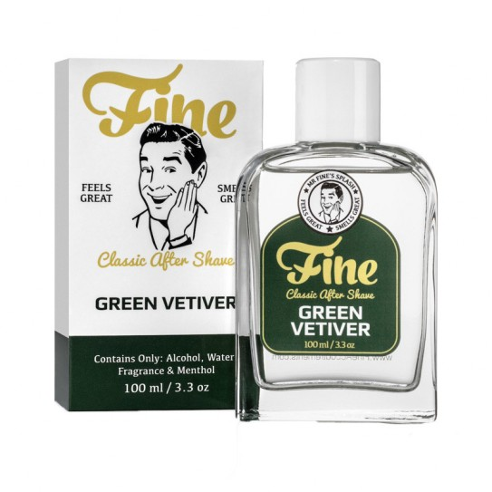 Lotion po goleniu Fine Classic After Shave - Green Vetiver 100 ml